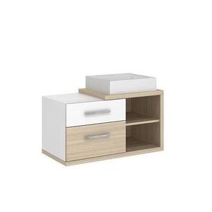Gabinete de Banheiro Madeira Ibizza sem Porta 44x80,2x40,2 Paris II Darabas Agardi