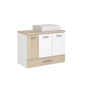 Gabinete de Banheiro Madeira Ibizza 2 Portas 59,5x80,2x40,2 Madri II Darabas Agardi