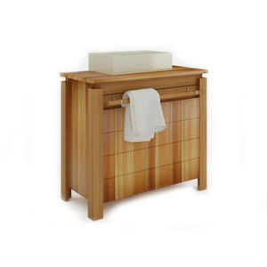 Gabinete de Banheiro Madeira Jatobá 2 Portas 75x83x39 Borneo Mão&Formão