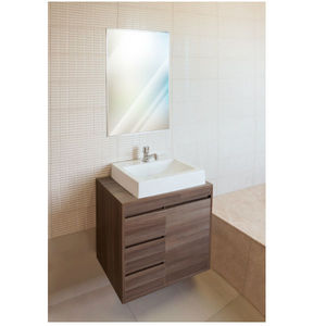 Gabinete de Banheiro Madeira Nogueira 1 Porta 56,5x60x40 Policlass