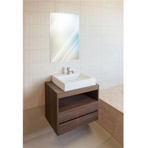 Gabinete de Banheiro Madeira Nogueira sem Porta 57x60x40 Policlass