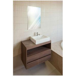 Gabinete de Banheiro Madeira Nogueira sem Porta 57x80x40 Policlass