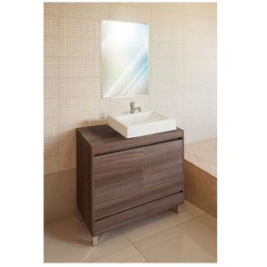 Gabinete de Banheiro Madeira Nogueira 2 Portas 76,5x80x40 Policlass