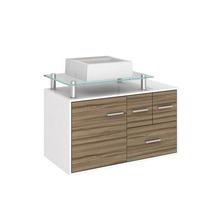 Gabinete de Banheiro Madeira Terracota 1 Porta 53,5x80,2x40,2 Napoli II Darabas Agardi
