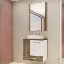 Gabinete de Banheiro Madeira Terracota 1 Porta 59,5 x60,2x40,2 Madri II Darabas Agardi