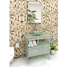 Gabinete de Banheiro Metal Incolor Esverdeado 88x80x48cm Space Cris Metal