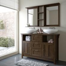 Gabinete de Banheiro Mission 85x129x42cm Nogueira Mão & Formão
