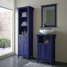 Gabinete de Banheiro Mission 85x53x42cm Azul Escuro Sensea