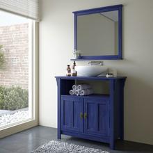 Gabinete de Banheiro Mission 85x89x42cm Azul Escuro Mão & Formão