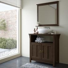 Gabinete de Banheiro Mission 85x89x42cm Nogueira Mão & Formão
