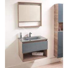 Gabinete de Banheiro Morrice 60 44,5x60x44cm Cinza Claro e Cinza Bergan