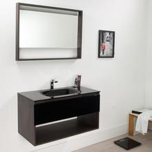 Gabinete de Banheiro Morrice 80 44,5x80x44cm Cinza Escuro e Preto Bergan