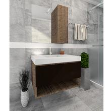 Gabinete de Banheiro Rennes 65x60x45cm Antique Wood Venturi
