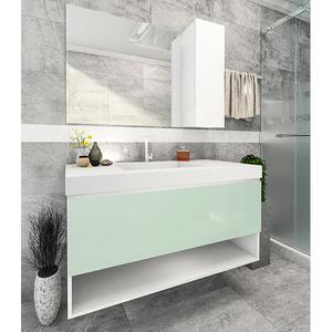 Gabinete de Banheiro Rennes 65x80x45cm Branco Venturi