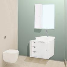 Gabinete de Banheiro Safira 44x64x44cm Branco FermarScalline