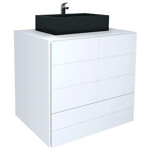 Gabinete de Banheiro Sem Espelho Simmetria MDF e MDP Branco Sem Cuba Harpex