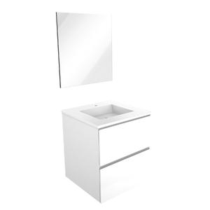 Gabinete de Banheiro Sisco 63,5x60x40cm Branco Venturi