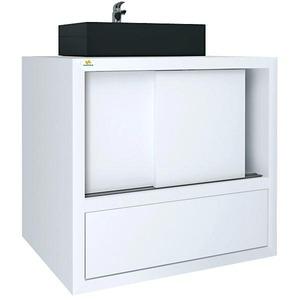 Gabinete de Banheiro Sem Espelho Specchio MDF e MDP Branco Sem Cuba Harpex