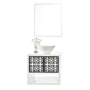 Gabinete de Banheiro Sem Espelho Tagliare MDF e MDP Branco Fumê Sem Cuba Harpex