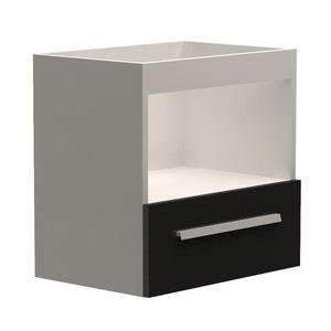 Gabinete de Banheiro Trend Branco/Preto Gaam