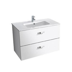 Gabinete de Banheiro Sem Espelho Victoria MDF Branco Sem Cuba Roca