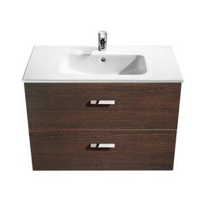 Gabinete de Banheiro Sem Espelho Victoria MDF Wengue Sem Cuba Roca