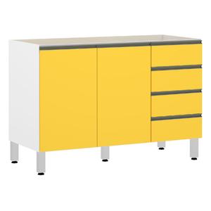 Gabinete de Cozina Amarelo 82,5x120x53cm Spring