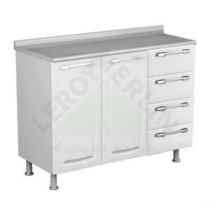 Gabinete de Cozinha Aço Branco e Preto Itatiaia Criativa 86x105x45cm