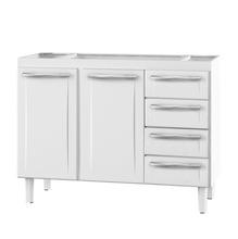 Gabinete de Cozinha Para Pia Aço Branco 2 Portas Contemporâneo 89x117,3x46,1cm Quality Cozimax