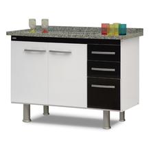 Gabinete de Cozinha Branco e Preto 60x114x53cm Delinia