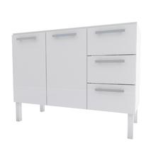 Gabinete de Cozinha em Aço Branco 1,20cm Cozimax
