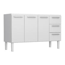 Gabinete de Cozinha em Aço Branco 1,50cm Delinia