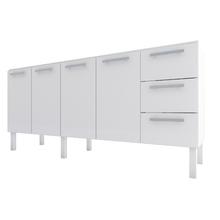 Gabinete de Cozinha em Aço Branco 1,80cm Delinia