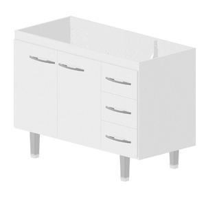 Gabinete de Cozinha Madeira Branco Bonatto Ferrara 82x113,4x53cm