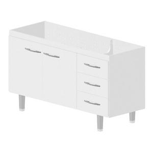 Gabinete de Cozinha Madeira Branco Bonatto Ferrara 82x143,4x53cm
