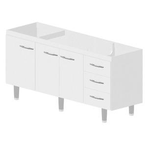 Gabinete de Cozinha Madeira Branco Bonatto Ferrara 82x174,4x53cm