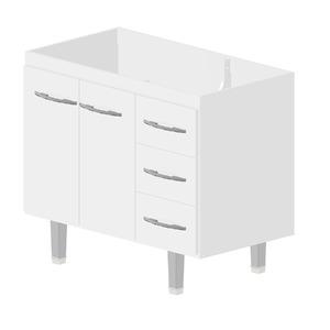Gabinete de Cozinha Madeira Branco Bonatto Ferrara 82x95,4x53cm