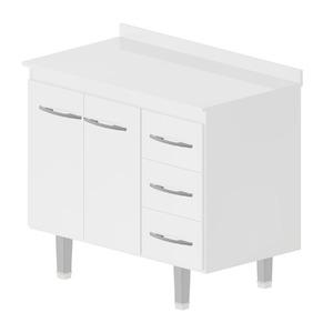 Gabinete de Cozinha Madeira Branco Bonatto Ferrara 89x98x54cm