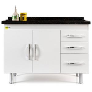 Gabinete de Cozinha Madeira Branco Delinia 0,83x1,15x0,51cm