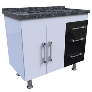 Gabinete de Cozinha Madeira Branco Harpex Rimini 67x93x51cm
