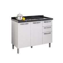 Gabinete de Cozinha Montado Madeira Branco Itatiaia Giulia 87x1,14x51,4cm