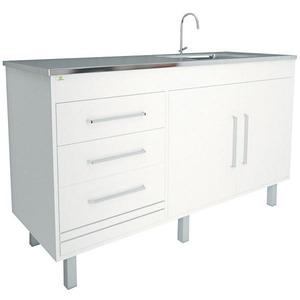 Gabinete de Cozinha MDF/MDP Branco 3 portas 86x1,45x52cm Sottile Harpex