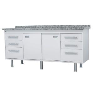 Gabinete de Cozinha Para Pia MDP Branco 2 Portas 65x194x56cm Ravenna Bonatto