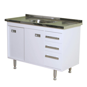 Gabinete de Cozinha Para Pia MDP Branco 2 Portas 65x114x56cm Ravenna Bonatto