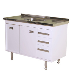 Gabinete de Cozinha Para Pia MDP Branco 2 Portas 65x96x56cm Ravenna Bonatto