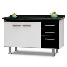 Gabinete de Cozinha Preto 82x143,4x53cm Delinia