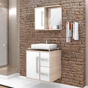 Gabinete MDF Branco 59,5x56,5x44cm 1 Porta Centauri 60 Cerocha