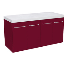 Gabinete Modulado para Banheiro 4 Portas 120x46cm Bordô Remix