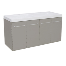 Gabinete Modulado para Banheiro 4 Portas 120x46cm Cinza Remix