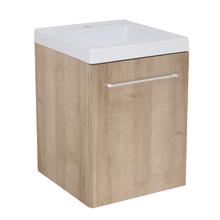 Gabinete Modulado para Banheiro com 1 Porta 1 Prateleira Amadeirado Claro 45x46cm Amadeirado Claro Remix